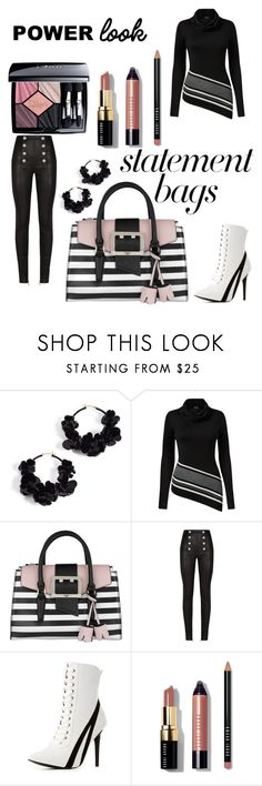"""Make A Statement.  👜"" by peacock-style ❤ liked on Polyvore featuring Oscar de la Renta, Venus, GUESS, Balmain, Wild Diva, Bobbi Brown Cosmetics, Christian Dior and statementbags"