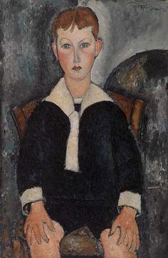 Moдильяни. Мальчик в матроске. 1917.  Коллекция Альберта Барнса, Филадельфия.