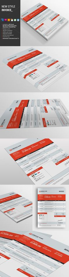 New Style Invoice. Stationery Templates. $6.00