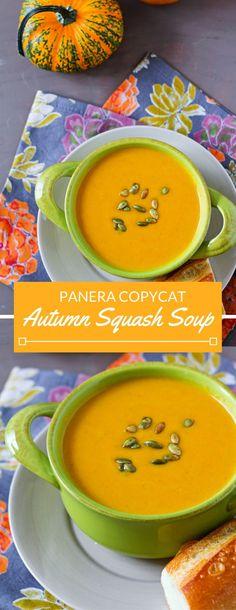Panera Copycat Recipe: Autumn Squash Soup