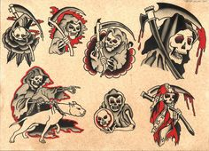 The Best Temporary Sailor Jerry Collection tattoos. Only EasyTatt Sailor Jerry Collection Tattoos Look Real, Use Your Own Design or Choose from Thousands of Designs. Traditional Diamond Tattoo, Traditional Flash, Traditional Tattoo Flash, American Traditional, Traditional Tattoo Grim Reaper, Traditional Tattoo Design, Flash Art Tattoos, Tattoo Flash Sheet, Flash Tradicional