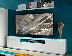 Germania Chicago Modern High Gloss White 2 Door TV Unit -OUT OF STOCK UNTIL MAY 2015