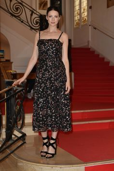 Caitriona Balfe is pure elegance in Fall/Winter 2016-17 at the Hotel Carlton in Cannes.