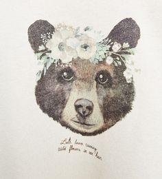 Image 5 of Shiny bear sweatshirt from Zara