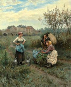 Painting the world by Daniel Ridgway Knight (1839-1924).