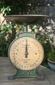 Vintage Household Salter Scales No 46 - To Weigh 28lb c1900's