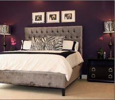 Exceptionnel Plum And Gray Bedroom Designs Design Room Decor