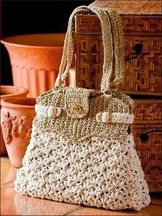 beautiful crochet purse