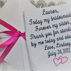 Father of the Bride Wedding Gift Handkerchief for dad | Etsy Sentimental Wedding Gifts, Personalized Wedding Gifts, Wedding Gifts For Bridesmaids, Wedding Ties, Party Wedding, Wedding Verses, Wedding Handkerchief, Maid Of Honour Gifts, Father Of The Bride