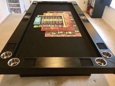 I'm a long time fan of BGG and the board gaming hobby, as well as woodworking. I've spent most of my time making custom expansions and pieces for dexterity games, such as PitchCar and Tumbling Dice; but one of my good friends asked me about making him a