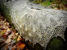 Ravelry $6.50 Serendipity Lace Shawl pattern by Hayley Tsang Sather with beads!