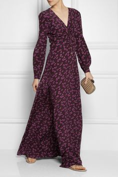 GucciHeartbeat printed silk-crepe gown