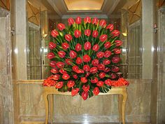 Gorgeous flower display in lobby of the Chengdu Crowne Plaza Hotel   Bob Leedom  photos     Album: China, October 2008  Public on the web  Photo information  picasa.com