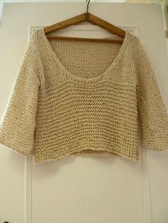 Voici un modèle de tricot Gilet chauve souris, acheté chez