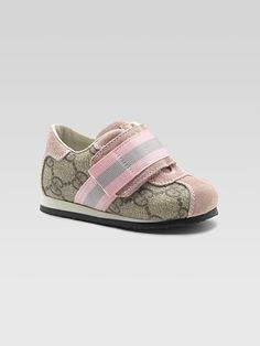 $210  Gucci  Kid's Wide Strap GG Sneakers