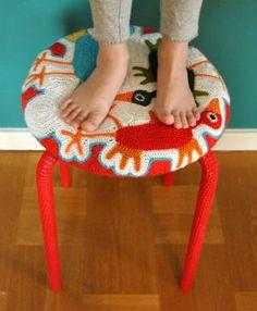 Crochet Stool Cover - --  Craft   Stew  --