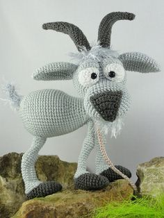 Amigurumi Crochet Pattern Gus the Goat by IlDikko on Etsy