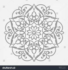 Circular pattern. Mandala. Round vector ornament.