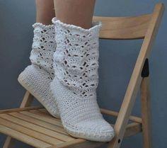 Botas tejidas con gancho (imagen de internet)