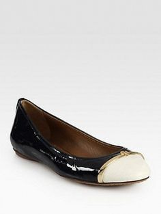 Pacey Patent Leather Ballet Flats by TORY BURCH