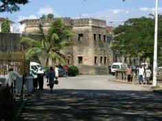 The front of the Old Fort facing Forodhani and the harbour