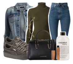 """""""Untitled #154"""" by trillqueen34 ❤ liked on Polyvore featuring VILA, Wolford, Yves Saint Laurent, Puma, Love Moschino, philosophy and Rimmel"""
