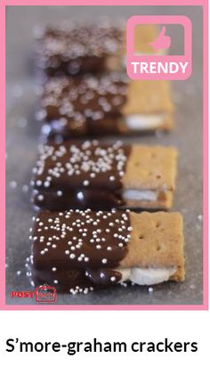 S'more-graham crackers...Enjoy!   For a salty twist on these chocolate covered s'mores... Check out at http://postverts.com/Smore-graham-crackers_2j51xk9