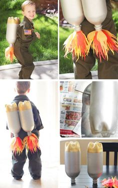 DIY Jet Pack for Little Astronaut | Click for 30 DIY Halloween Costumes for Kids to Make | DIY Halloween Costumes for Toddlers
