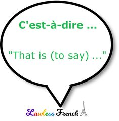 Use this expression the next time you need to (or need someone else to) clarify things. French Expressions, How To Speak French, Learn French, Idiomatic Expressions, French People, Teacher Boards, French Teacher, French Language