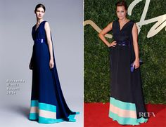 Yasmin Le Bon by Roksanda Ilincic Resort 2014 (British Fashion Awards 2013) #BritishFashionAwards