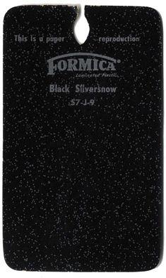 Vintage Formica® Laminate - Black Silversnow