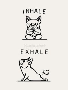 Inhale Exhale Frenchie Art Print by Huebucket - Animals / Babies / Cuten . - Inhale Exhale Frenchie Art Print by Huebucket – Animals / Babies / Cuten …, - Funny Puns, Funny Quotes, Pug Quotes, Funny Positive Quotes, Life Quotes, Funny Llama, Quotes Inspirational, The Words, Inhale Exhale