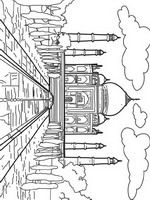 world wonders coloring pages including great wall of china eiffel tower easter island - Great Wall China Coloring Page