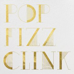 """Pop Fizz Clink - Ivory"" Invitation, by kate spade new york, Paperless Post"