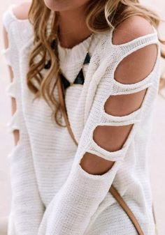 HOLLOW OUT KNITTING SWEATER
