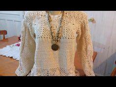 Knitting Videos, Crochet Videos, Crochet Vest Pattern, Men Sweater, Sweaters For Women, Crochet Clothes, Crochet Top, Tunic Tops, Crop Tops