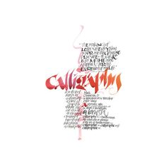 Calligraphy ❤ liked on Polyvore featuring text, fillers, background text, quotes, red, phrase and saying
