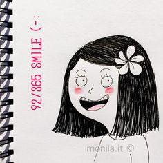 Monila handmade, illustration, illustrazione, i ghirigori di Monila,smile,sorriso,bambina,children