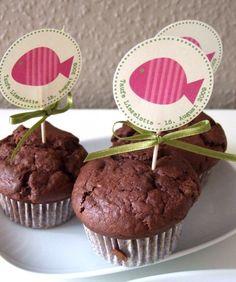Muffinschildchen - Cupcake - Kuchenverzierung von creartiv.box auf DaWanda.com
