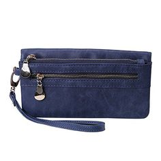 New Trending Purses: HDE Womens Soft Leather Wallet Multi-Function Zipper Clutch Wristlet (Blue). HDE Womens Soft Leather Wallet Multi-Function Zipper Clutch Wristlet (Blue)  Special Offer: $8.95  144 Reviews A wristlet wallet is the simple, everyday solution for the woman on the go. The exterior snap button card holder and interior pockets offer plenty of storage for your phone,...