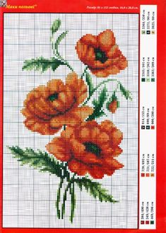 This Pin was discovered by Гал Cross Stitch Tattoo, Cross Stitch Rose, Beaded Cross Stitch, Cross Stitch Flowers, Cross Stitch Charts, Cross Stitch Designs, Cross Stitch Embroidery, Cross Stitch Patterns, Pattern Wall