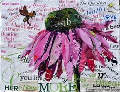 """""""Buzzin'"""" by Deborah Shapiro. This is one of my favorites, made with positive words."""
