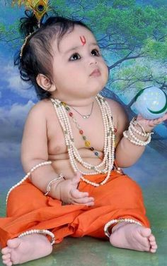 Krishna Lila, Little Krishna, Bal Krishna, Cute Krishna, Krishna Art, Radhe Krishna, Cute Baby Girl Images, Baby Boy Pictures, Baby Images