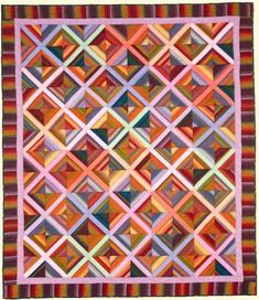X-Effect Quilt Fabric Pack Kaffee Fassett Plaid Quilt, Striped Quilt, Striped Fabrics, Scrap Quilt Patterns, Quilting Ideas, Fabric Patterns, Watercolor Quilt, String Quilts, Contemporary Quilts