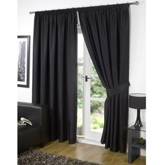 Dreamscene Blackout Pencil Pleat Curtains (1,415 PHP) ❤ liked on Polyvore featuring home, home decor, window treatments, curtains, black, track curtains, black window treatments, black out curtains, blackout window treatments and lining curtains