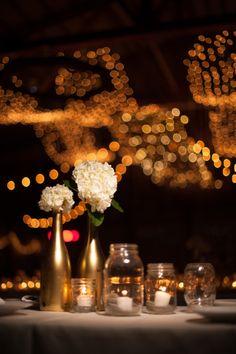 Metallic decor: http://www.stylemepretty.com/oregon-weddings/sisters/2015/01/23/snowy-winter-wedding/ | Photography: Kimberly Kay - http://kkayphoto.com/