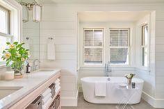 A soaking tub and sh