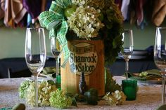St. Patrick's Day Table at American Event Rentals.