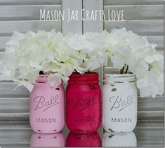 Valentine's Day Mason Jars | Mason Jar Crafts Love