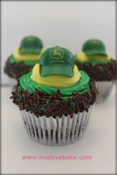 John Deere Cupcakes- These were the cupcakes that Live Love Bake made for Joe's 1st birthday. They were amazing!